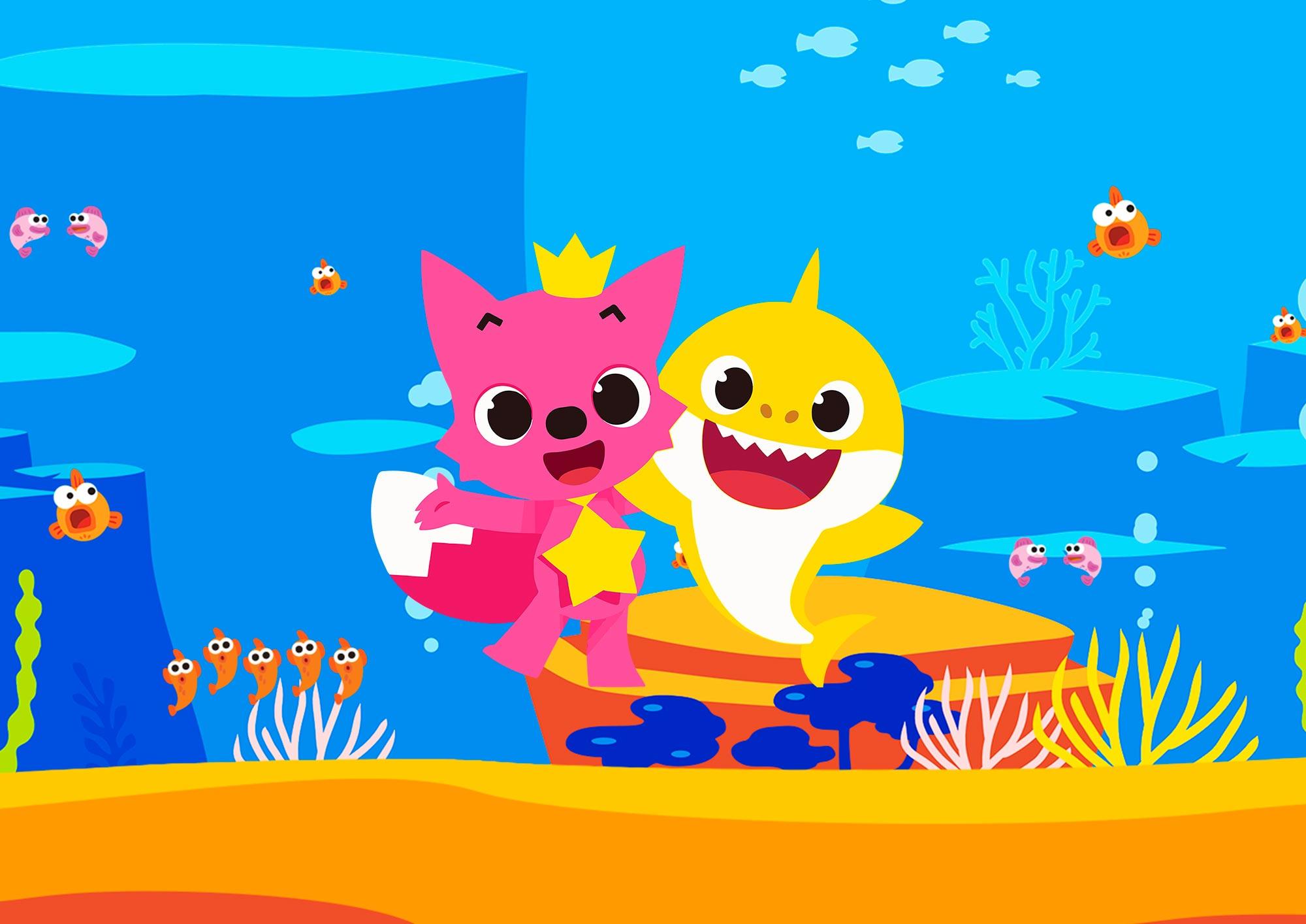 Quadrinho decorativo festa Baby Shark 2