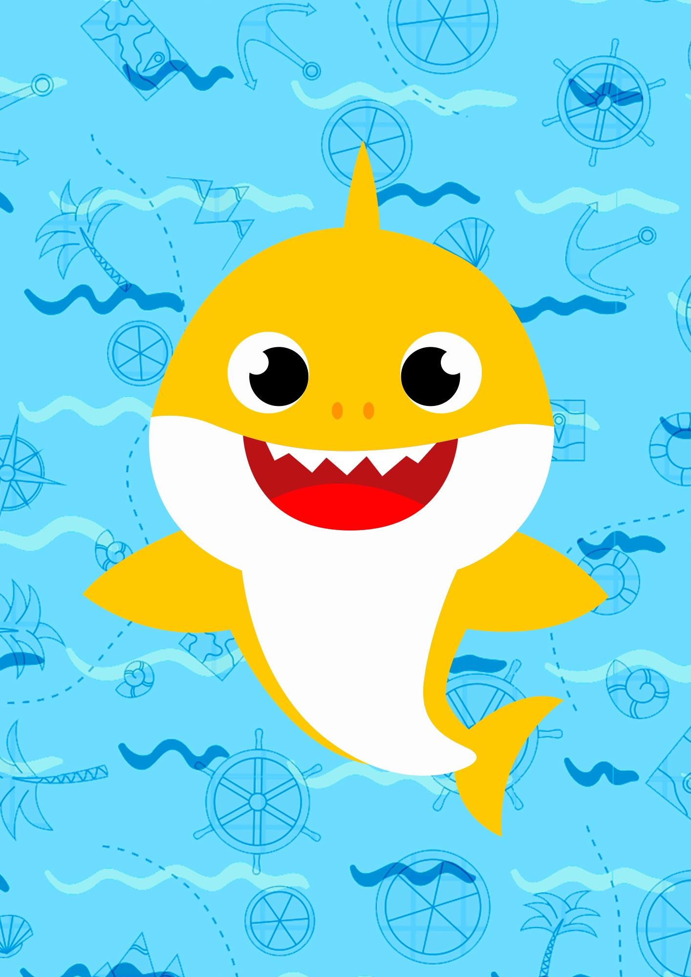 Quadrinho decorativo festa Baby Shark 3