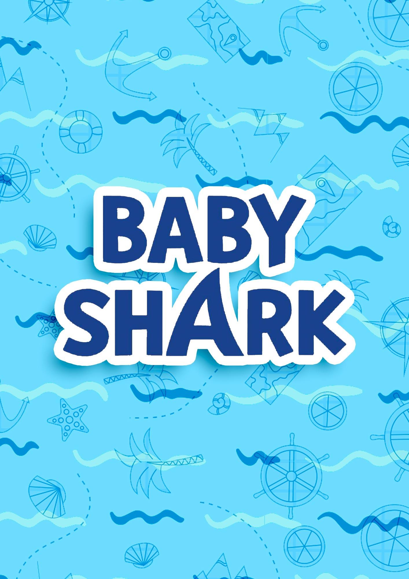 Quadrinho decorativo festa Baby Shark 4