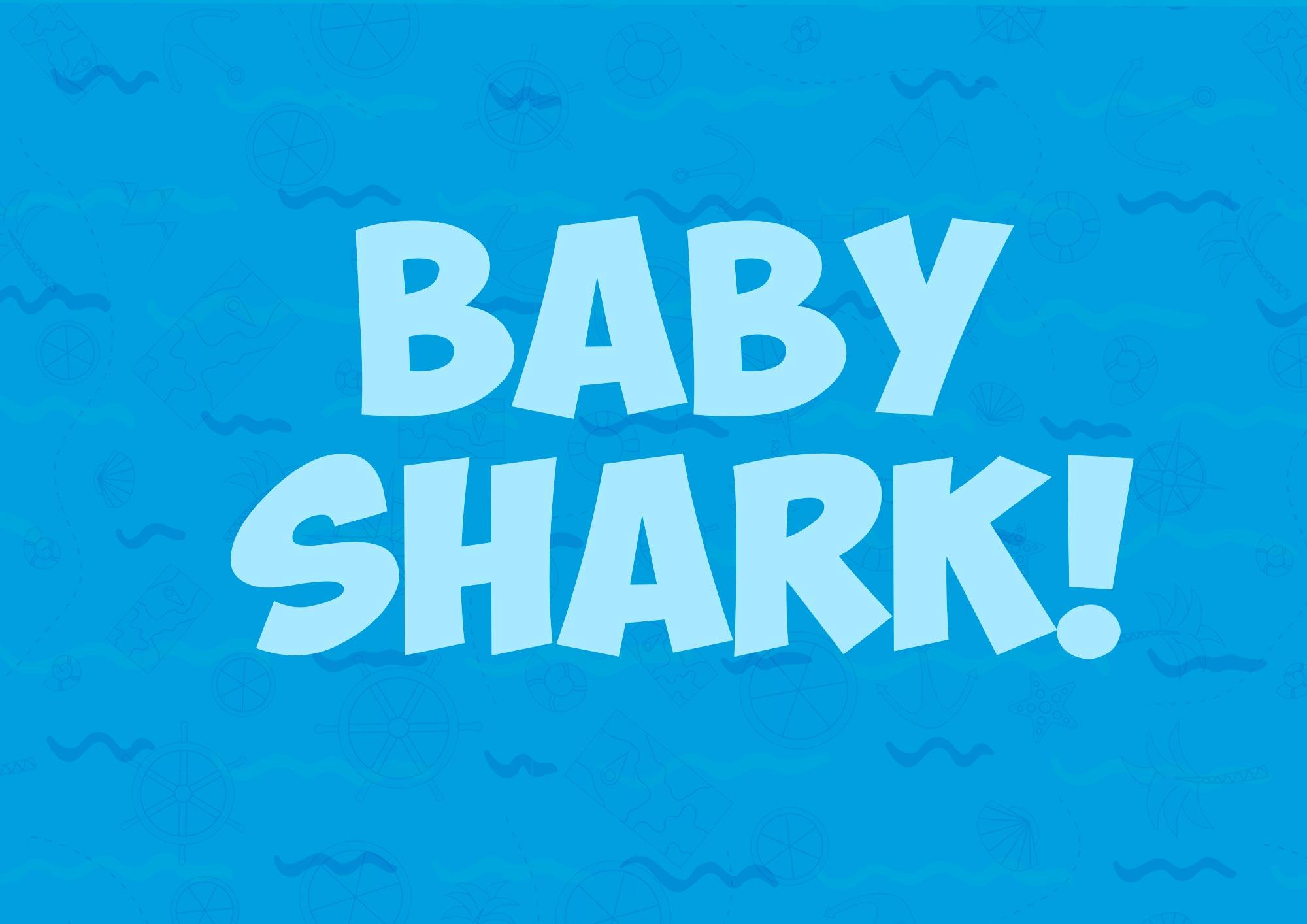 Quadrinho decorativo festa Baby Shark 7