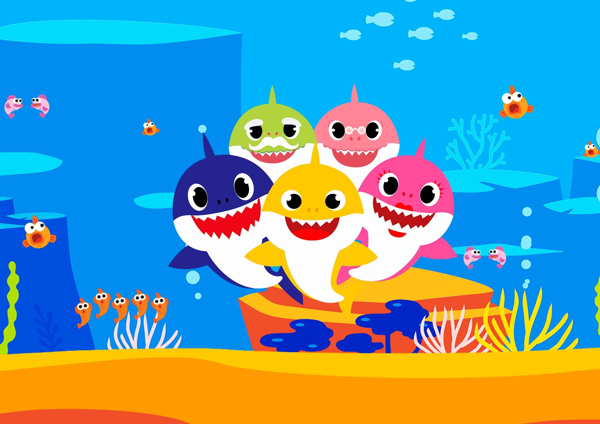 Quadrinho decorativo festa Baby Shark - Fazendo a Nossa Festa