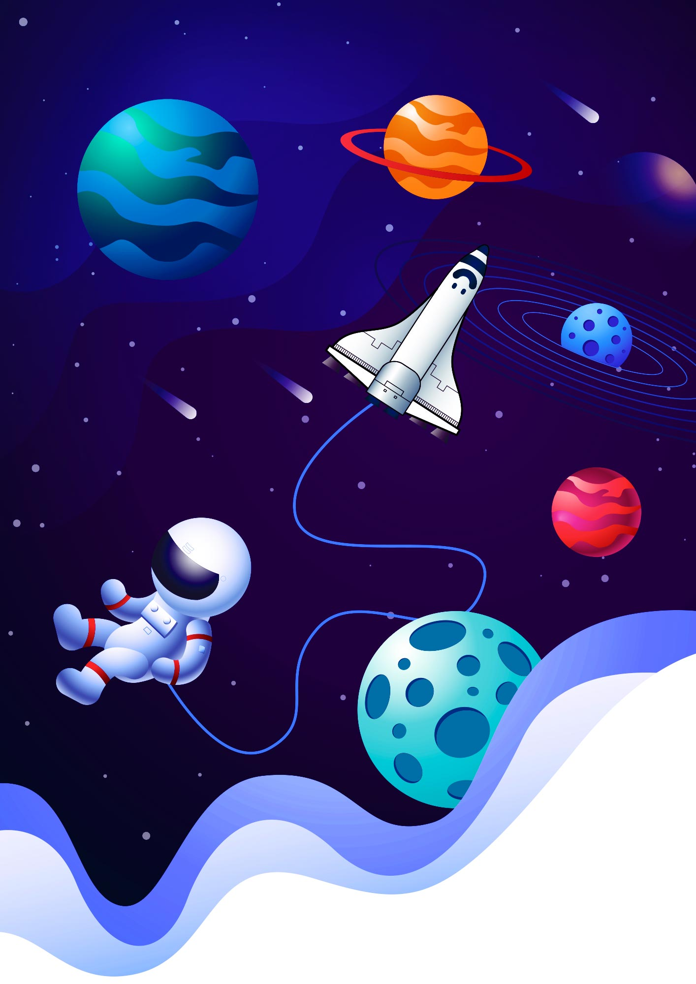 Quadrinho para festa Astronauta 11