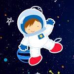 Quadrinho para festa Astronauta