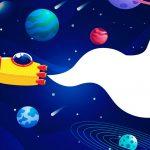 Quadrinho para festa Astronauta 6