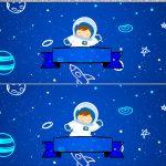 Saia de Bolo Astronauta