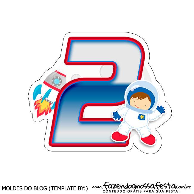 Topo de bolo Astronauta 2