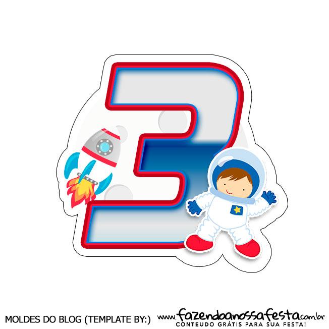 Topo de bolo Astronauta 3