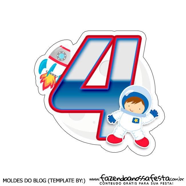 Topo de bolo Astronauta 4