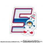 Topo de bolo Astronauta 5