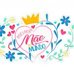 Topo de bolo Dia das Maes gratis