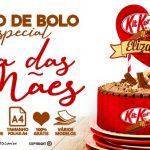 Topo de bolo Dia das Maes para Imprimir