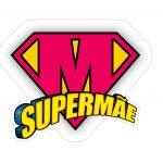 Topo de bolo Super Mae