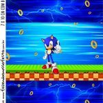 Adesivo Bala Personalizada Kit Festa Sonic