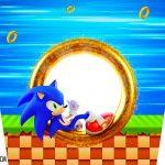 Adesivo Balde de Pipoca Kit Festa Sonic