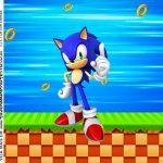 Adesivo Caixa Acrilica Kit Festa Sonic