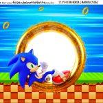 Adesivo Marmitinha Personalizada Kit Festa Sonic