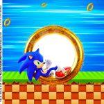 Adesivo Quadrado Sonic