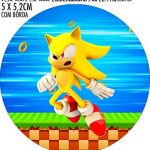 Adesivo copo de acrilico Kit Festa Sonic