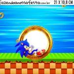 Adesivo para Cofrinho Kit Festa Sonic