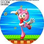 Adesivo para garrafinha Kit Festa Sonic