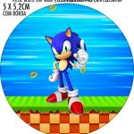 Adesivo redondo Sonic