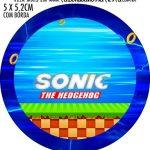 Adesivo redondo personalizado Sonic