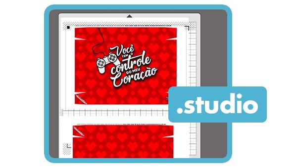 Arquivo de Corte Caixa Controle Joystick Dia dos Namorados