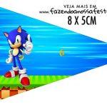 Bandeirinha Sanduiche para imprimir Sonic