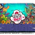 Caixa Controle Dia dos Namorados Plants vs Zombies fundo