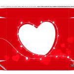 Caixa Controle Dia dos Namorados Vermelha tampa 2