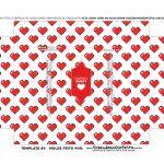 Caixa Controle Joystick Dia dos Namorados Coracoes berco