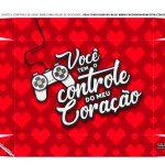Caixa Controle Joystick Dia dos Namorados Coracoes tampa