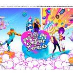 Caixa Controle Joystick Dia dos Namorados Just Dance tampa 2