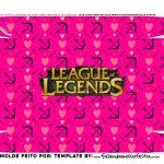 Caixa Controle Joystick Dia dos Namorados League of Legends fundo