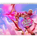 Caixa Controle Joystick Dia dos Namorados League of Legends tampa 2