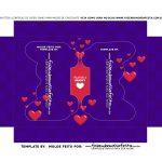 Caixa Controle Joystick Dia dos Namorados Roxa berco