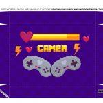 Caixa Controle Joystick Dia dos Namorados Roxa tampa