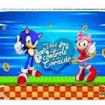 Caixa Controle Joystick Dia dos Namorados Sonic tampa 2