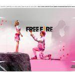 Caixa Controle Video Game Dia dos Namorados Freefire tampa
