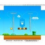 Caixa Controle Video Game Dia dos Namorados Super Mario berco