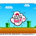 Caixa Controle Video Game Dia dos Namorados Super Mario fundo