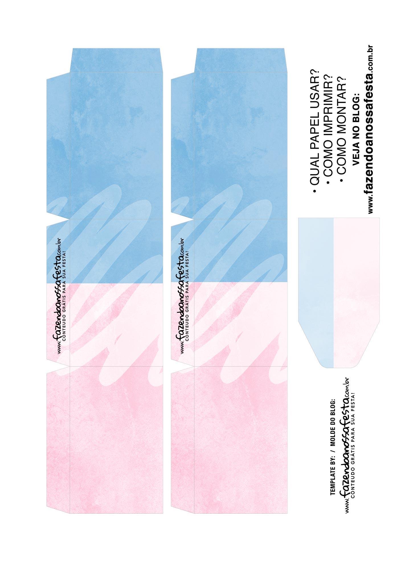 Caixa Dia dos Namorados Azul e Rosa 2