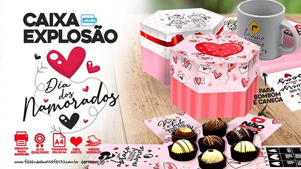 Caixa Explosao Dia dos Namorados gratis