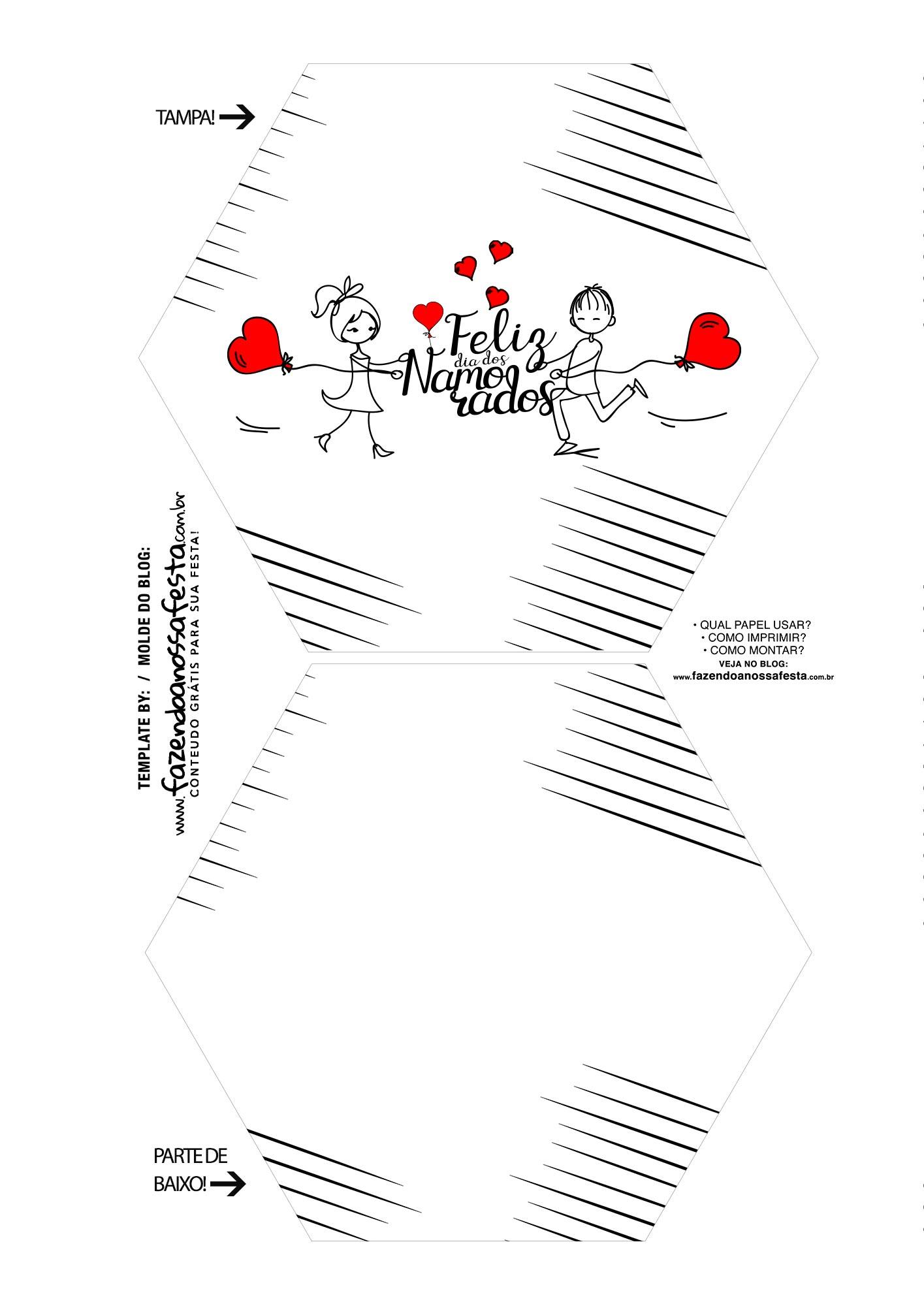 Caixa Explosiva Dia dos Namorados Bonecos Palitos 1