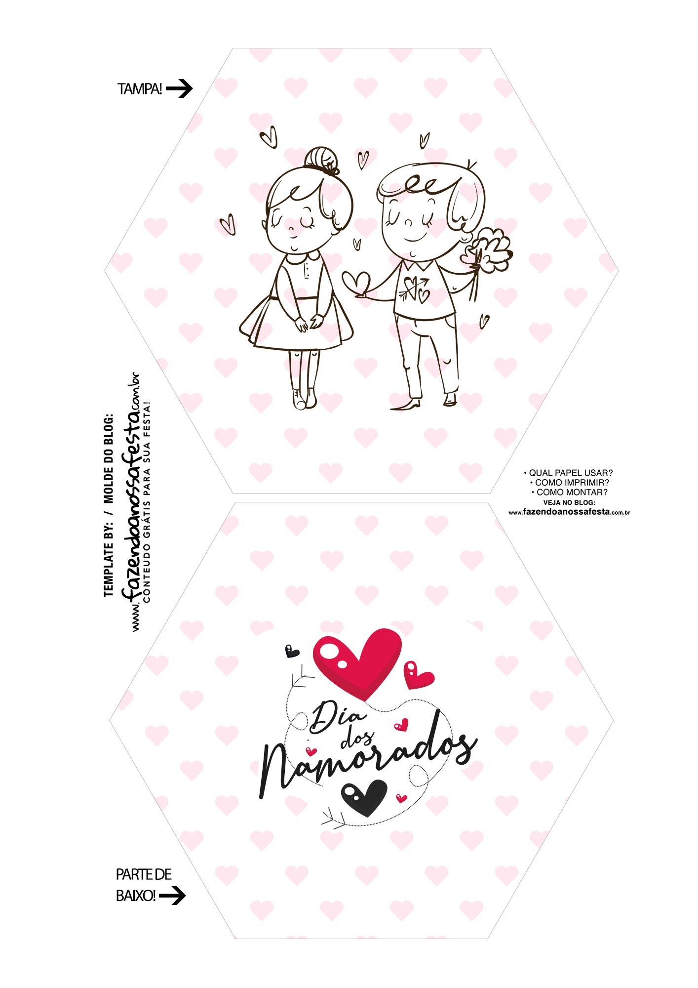 Caixa Explosiva Dia dos Namorados Casal Preto e branco 1