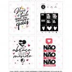 Caixa Explosiva Dia dos Namorados Casal preto e branco