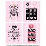 Caixa Explosiva Dia dos Namorados Coracoes Rosa 55