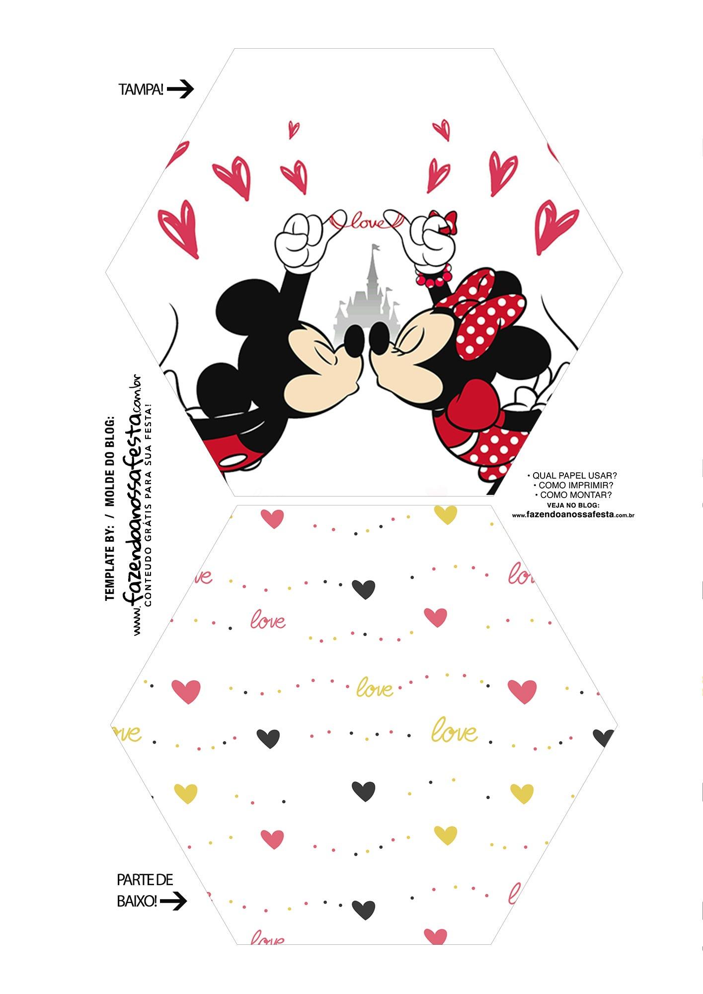 Caixa Explosiva Dia dos Namorados Mickey e Minnie 1