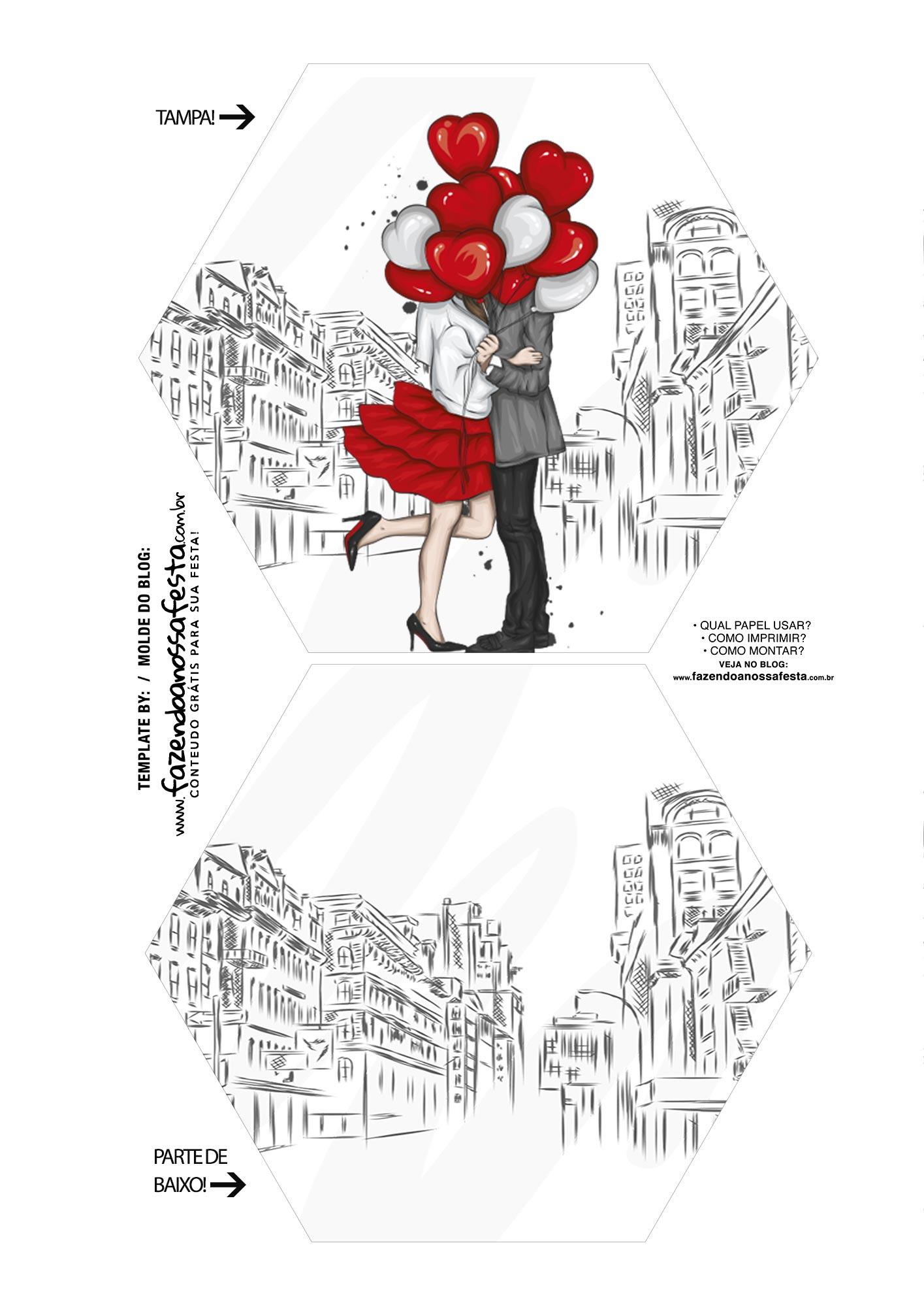 Caixa Explosiva Dia dos Namorados Paris 1