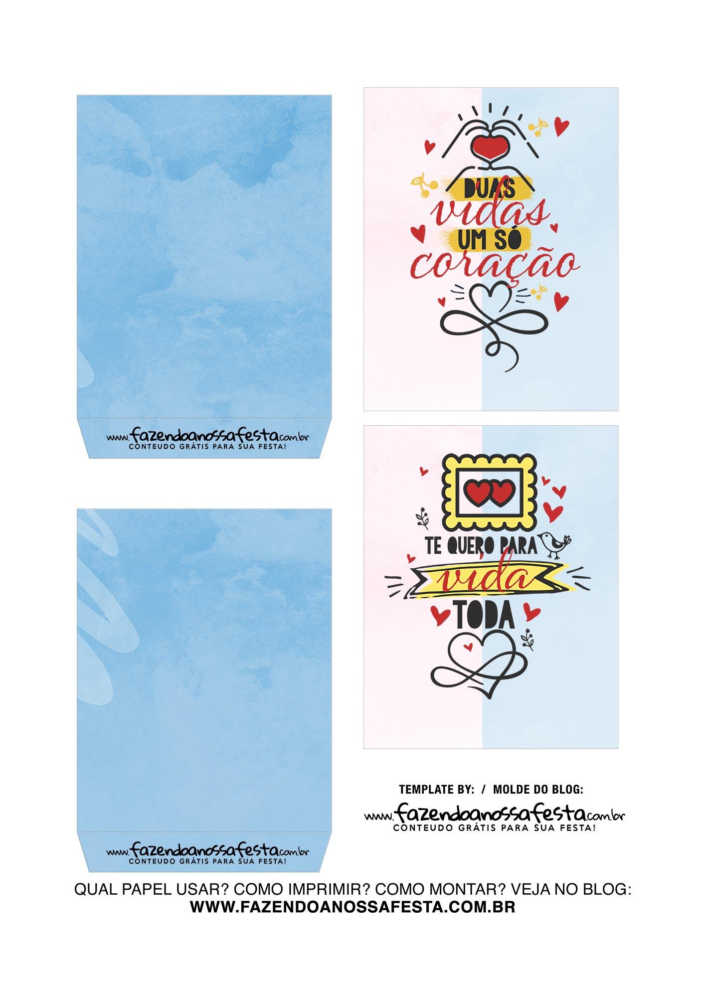 Caixa Explosiva Dia dos Namorados Rosa e Azul 3